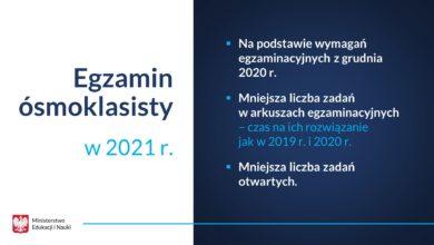 Photo of Informacje o egzaminie ósmoklasisty w 2021 roku. Harmonogram i inne ciekawostki