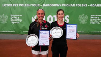 Photo of Tenis – Gdańsk. Pierwsi zwycięzcy PZT Polish Tour