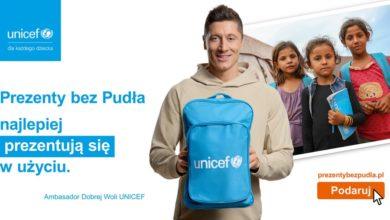 """Photo of """"Prezenty bez Pudła"""". Ambasador Dobrej Woli – Robert Lewandowski wspiera program UNICEF Polska"""
