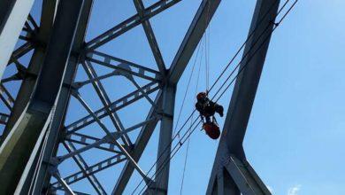 Photo of Toruń. Wspiął się na most i zasnął 30 metrów nad ziemią