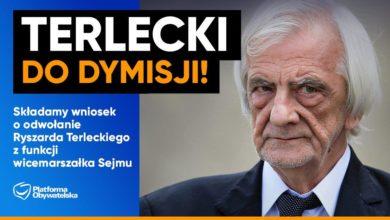Photo of Wniosek o odwołanie Ryszarda Terleckiego z funkcji wicemarszałka Sejmu